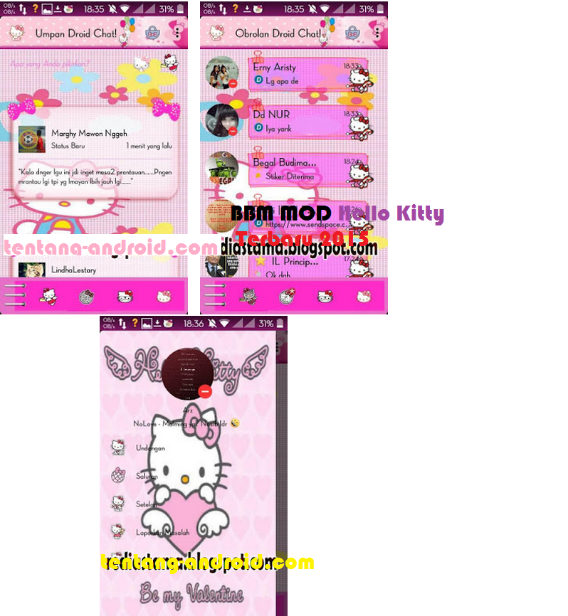 Download BBM Mod Hello Kitty v4.7.05 Based v2.9.0.45