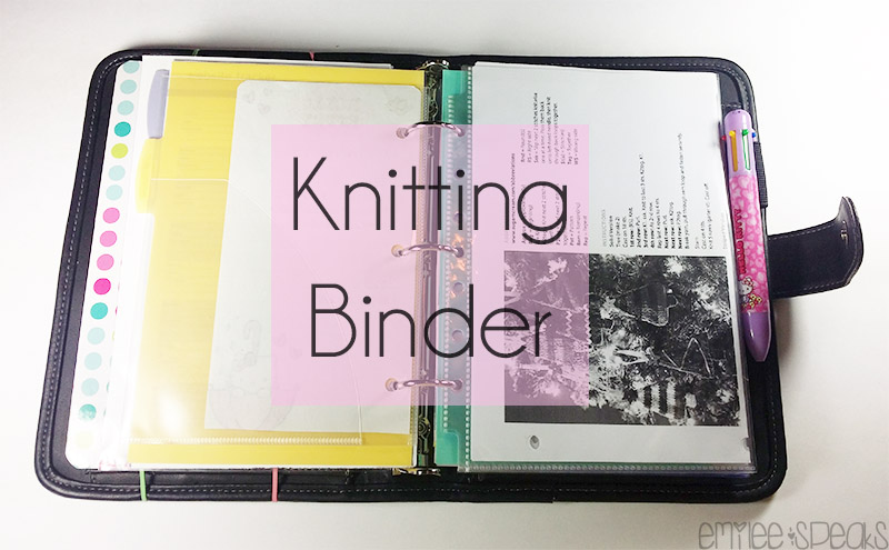 Knitting Pattern Binder : Emilee Speaks: knitting binder