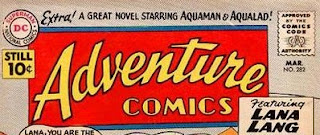 Adventure 282 logo with Aquaman blurb