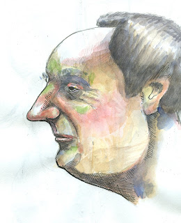 profile head drawing