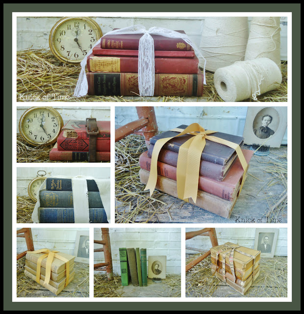 Antique Book Stacks Bundles via Knick of Time