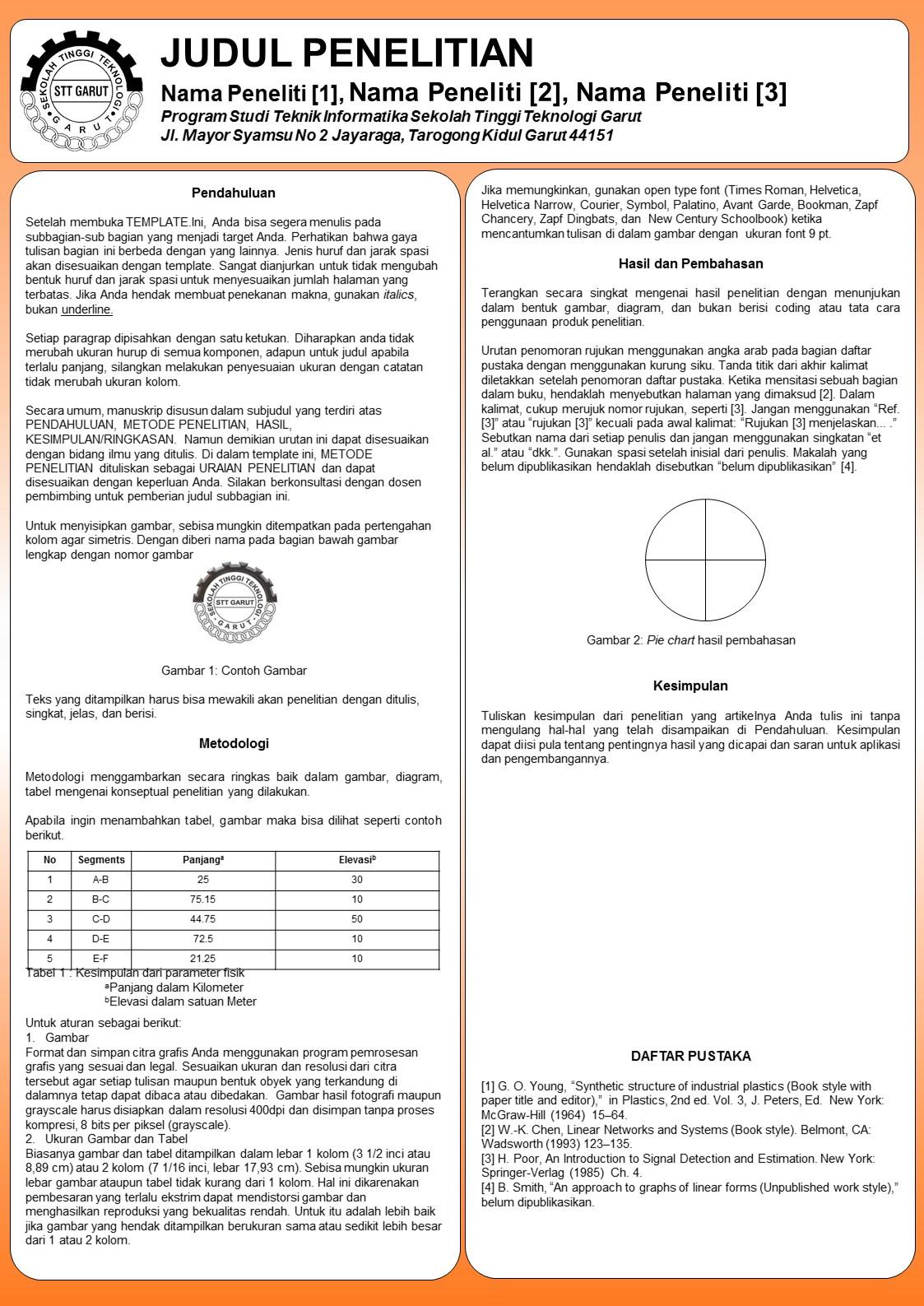 Template Poster Seminar ~ Program Studi Informatika