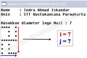 Program C++ :  Membuat Lambang Nazi Dengan Karakter Bintang