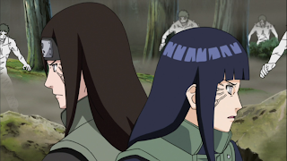 Neji and Hinata are fighting back to back @ Rewriting Life
