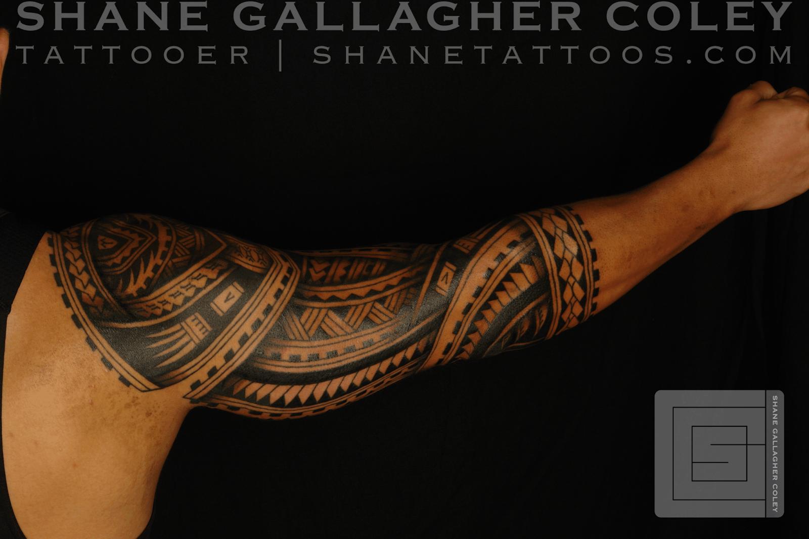 SHANE TATTOOS Polynesian Sleeve Tatau Tattoo