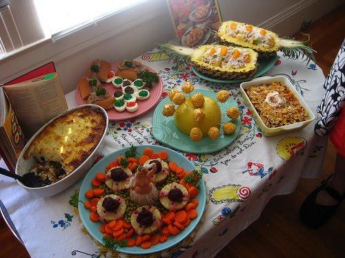Jenn Ski Its Bright Colorful 60s Party Food