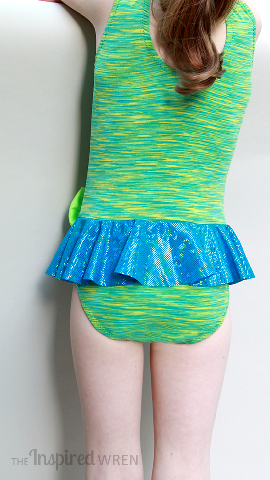 Fabulous kicky, sparkle skirt! My Childhood Treasures Leaotard/Swimsuit 2, View B | The Inspired Wren