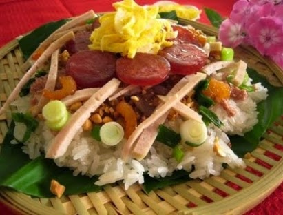 Recipe: Sticky Rice with Assorted Toppings - Xôi mặn