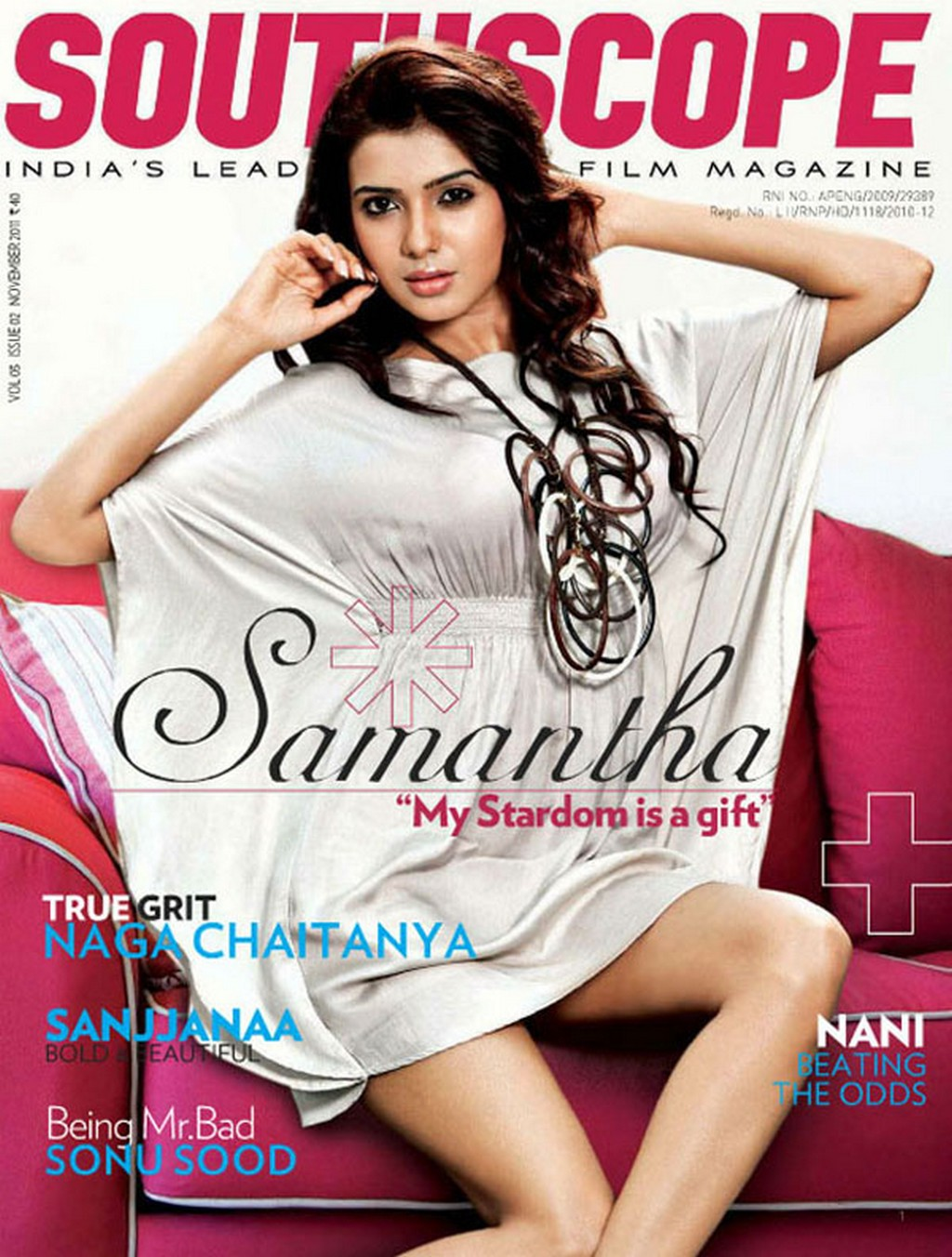 actress gallery samantha at south scope magazine. Black Bedroom Furniture Sets. Home Design Ideas