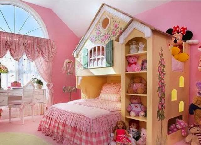 desain kamar tidur anak perempuan unik