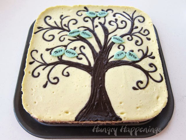 ... tree design I chose for my cheesecake is whimsical, just like my mom