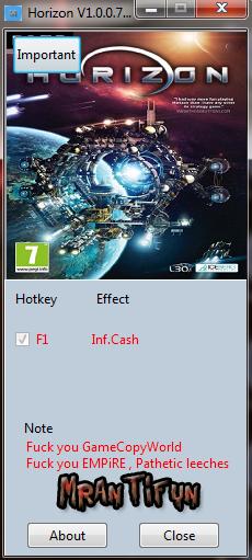 Horizon V1.0.0.71 Trainer +1 MrAntiFun