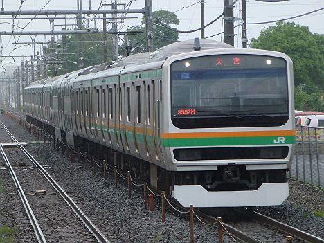 湘南新宿ライン 普通 大宮行き E231系(浦和駅高架化工事に伴う運行)