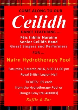 Hydrotherapy Pool Ceilidh Sat 5th March