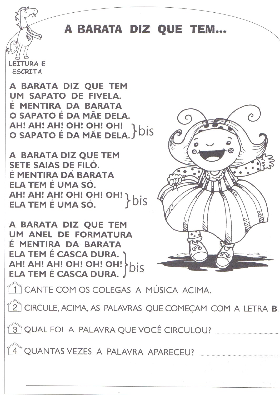 Amado Companheiros da Educação: Atividades da Dona Baratinha Prontos  RQ18