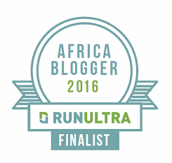 Voted AFRICA Finalist in the 2016 Run Ultra UK Blogger Awards