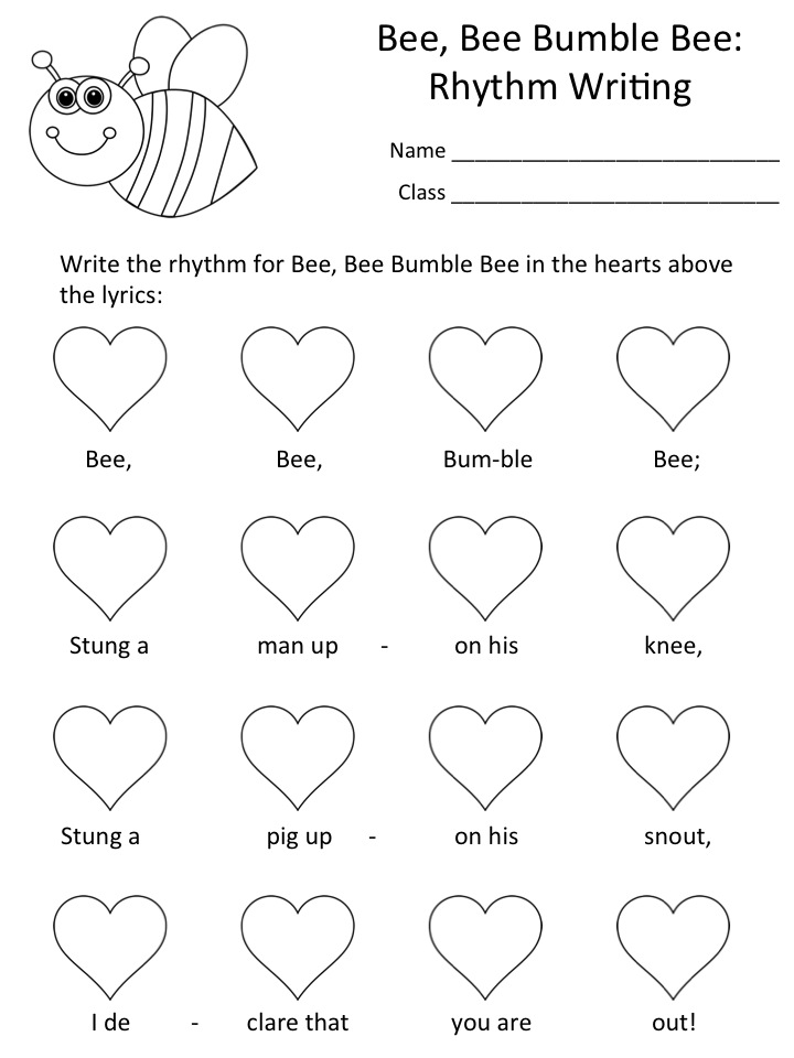 Music a la Abbott Amy Abbott Kod ly Inspired Blog and Teachers – Bee Worksheets