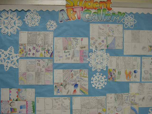 7 Elements Of Visual Arts : Adventures in middle school art class intro to the elements of