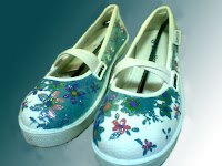 Sepatu Lukis jean 205 Cewek Rp 125 000,sepatu lukis bunga,xepatu lukis