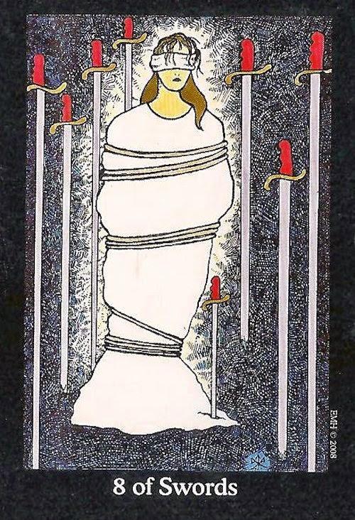 Tarot Notes 8 Of Swords Astrological Associations