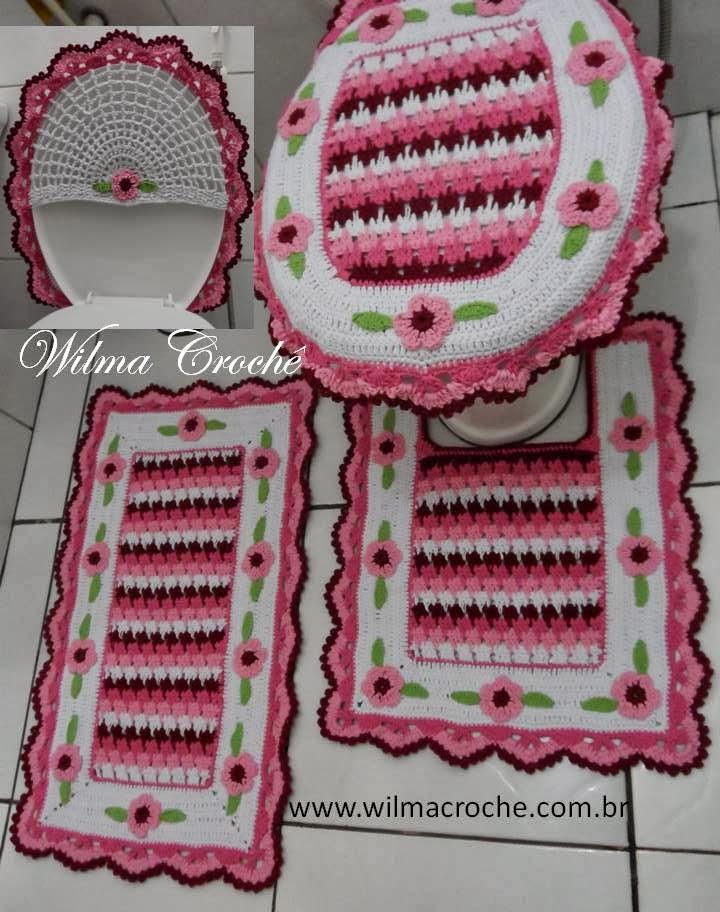 Wilma Crochê Outubro 2013 # Jogo De Banheiro Simples Croche