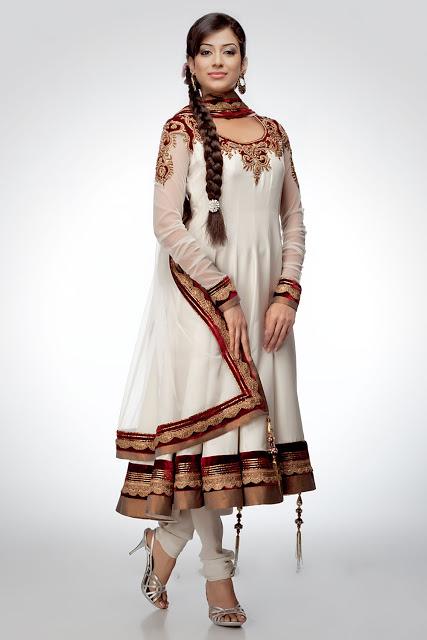 Latest anarkali umbrella frock stylish indian 2013 for women