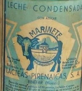 Leche condensada Marinete de Binéfar