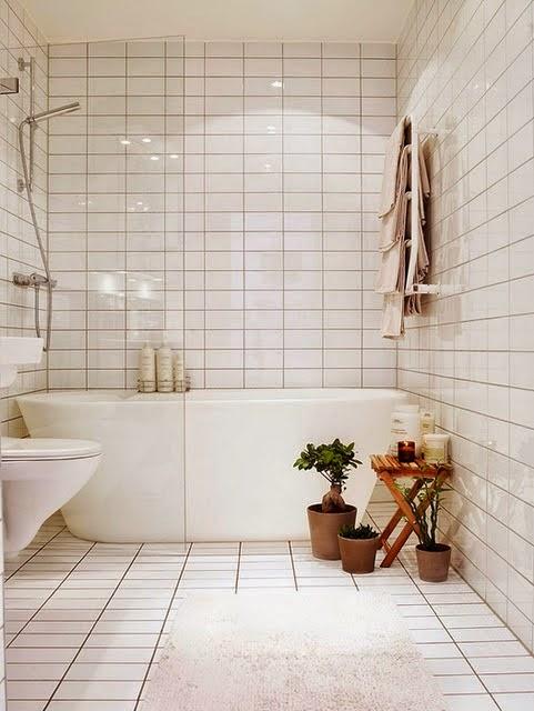 Cuartos de baño. Colores y baldosas