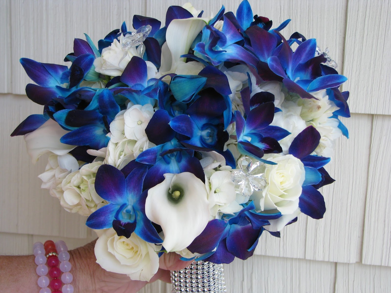 Blue Orchid Wedding Bouquet Viewing Gallery