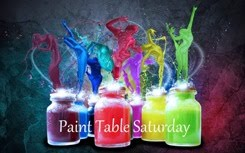 Sofie's paint Table Saturday
