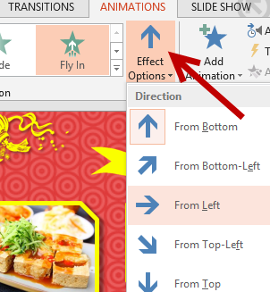 How to Change Animation Direction in Microsoft PowerPoint 2013