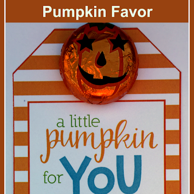 Free Chocolate Pumpkin Favor Tag