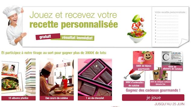 Jeu concours Albumblog: 3 900€ de lots gourmands + 1 recette personnalisée gratuite