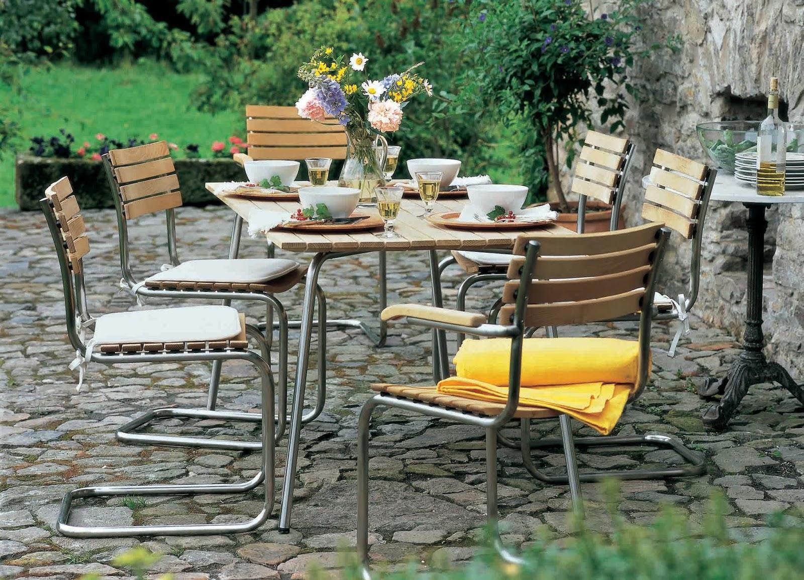 L iconica sedia da giardino s40 di mart stam festeggia i for Sedia anni 40