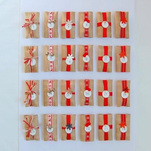 Calendario Adviento de rollos de papel higiénico