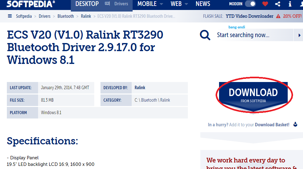 ralink rt3290 bluetooth 01 driver windows 8.1 скачать