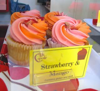Vegan Strawberry & Mango Cupcake Veega