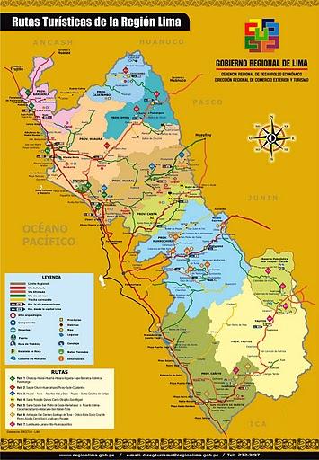 Mapa de la Región Lima