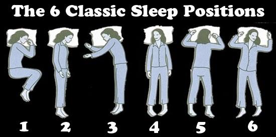 6 posisi utama saat tidur
