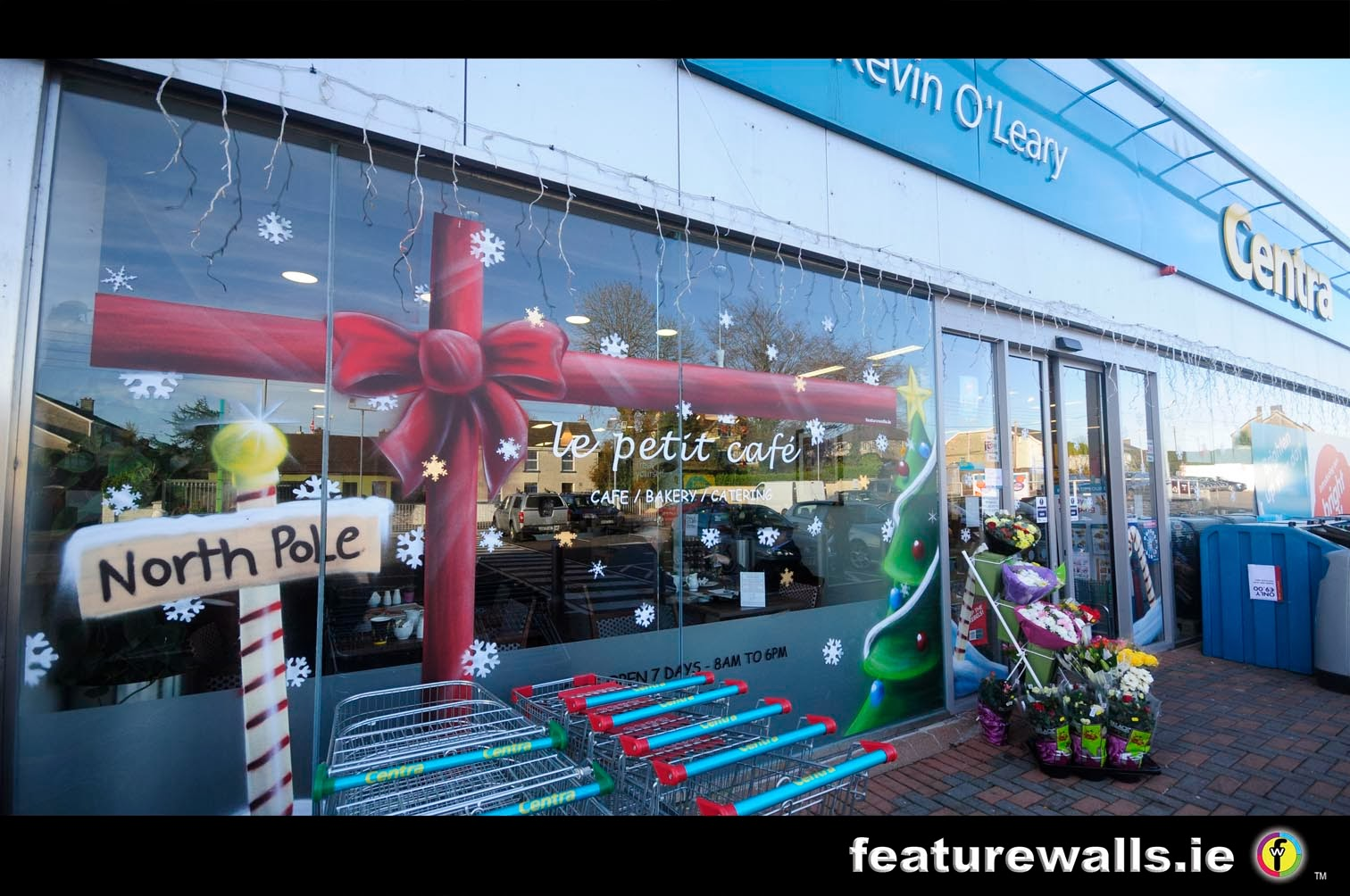 Mural painting professionals cork 39 shtyle for Christmas window mural