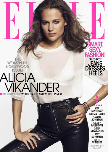 Alicia Vikander Elle magazine November 2015 cover