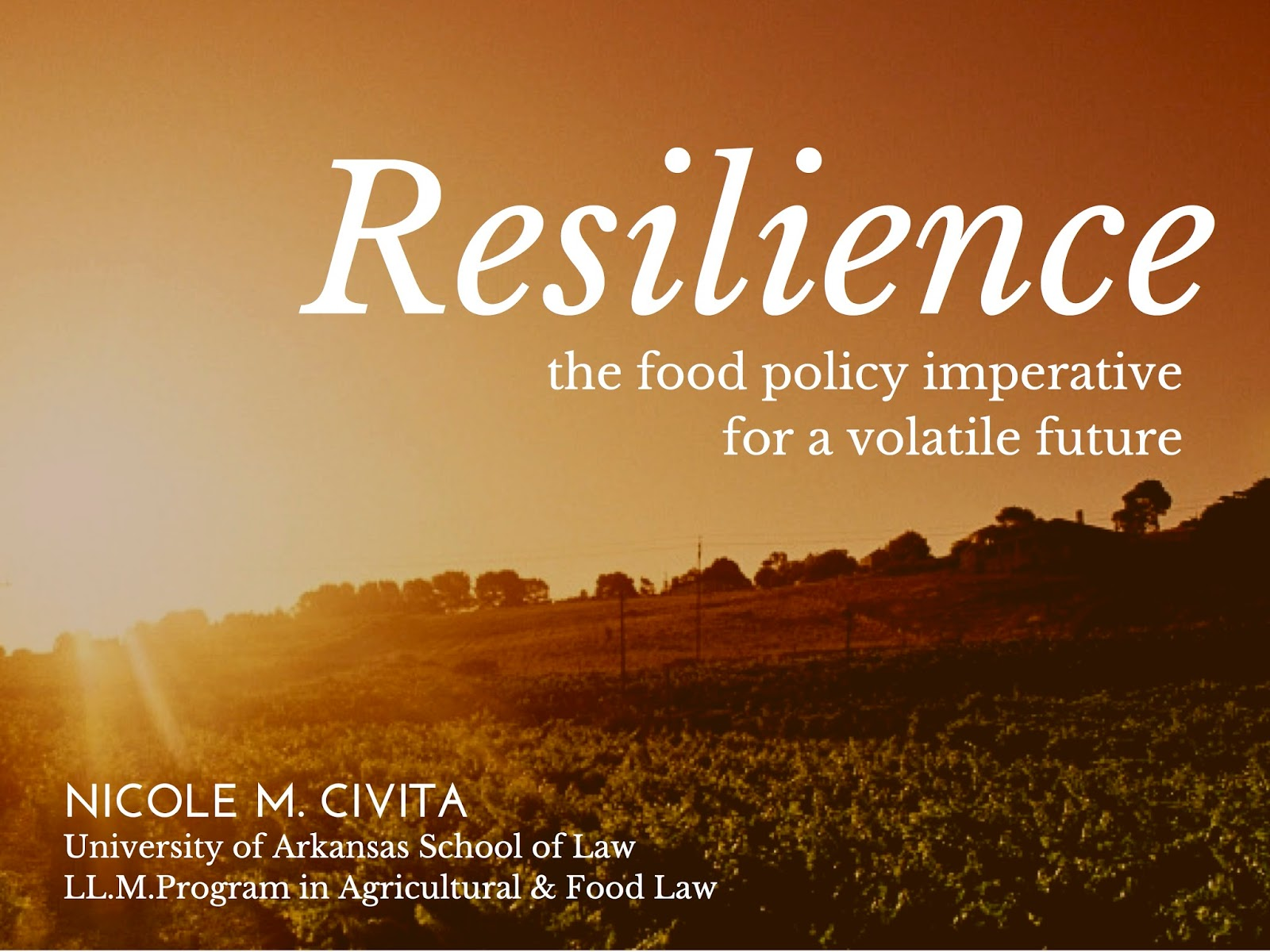 """Resilience Quotes Nicole Civita """"resilience The Food Policy Imperative For A"""