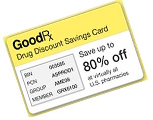 Goodrx discount drug coupon