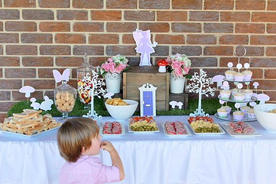 Fairy Party Food Ideas, Fairy Party Table, Fairy Party Ideas, Purple and pink party, Girls Party Ideas