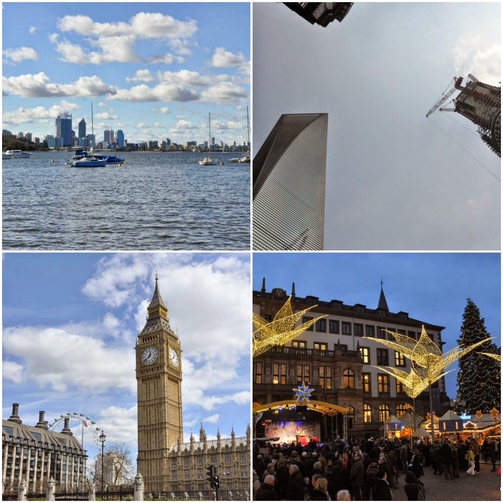 Perth, Shanghai, London, Weisbaden