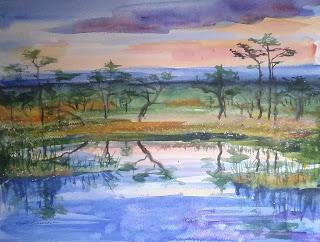 eesti rabamaastik, keiu kuresaar, akvarell, maal