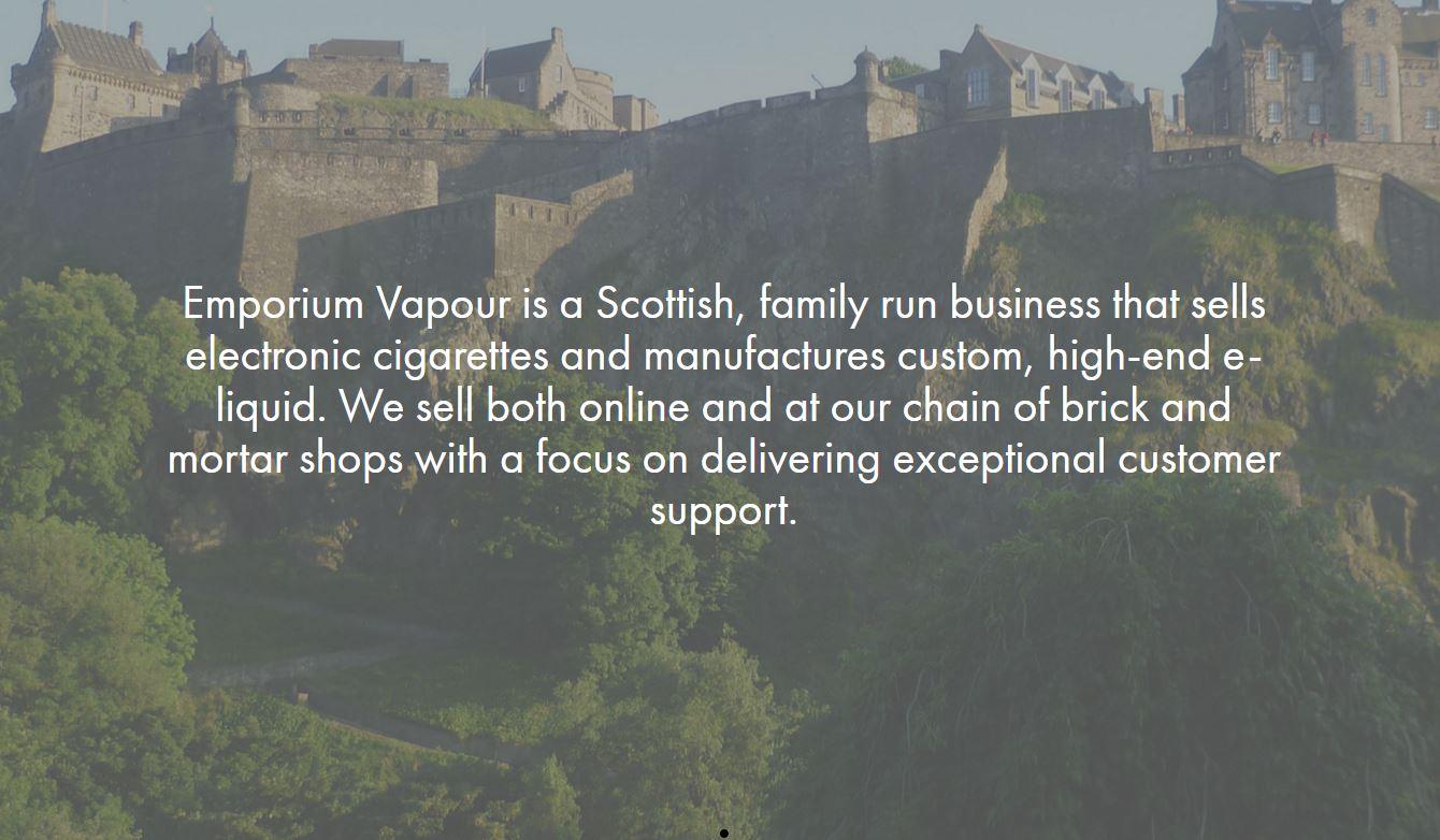 http://empvap.com/ Edinburgh Scotland