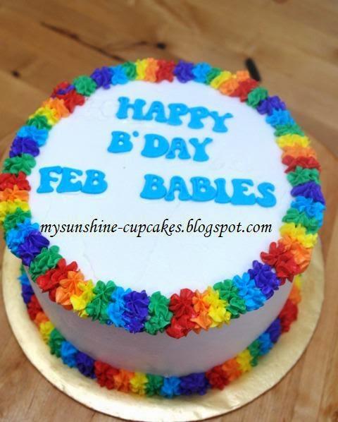 vanilla rainbow cake 1.5kg