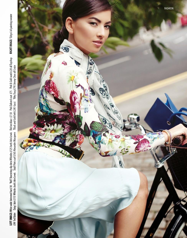 Model on a bike, hair, hairdresser