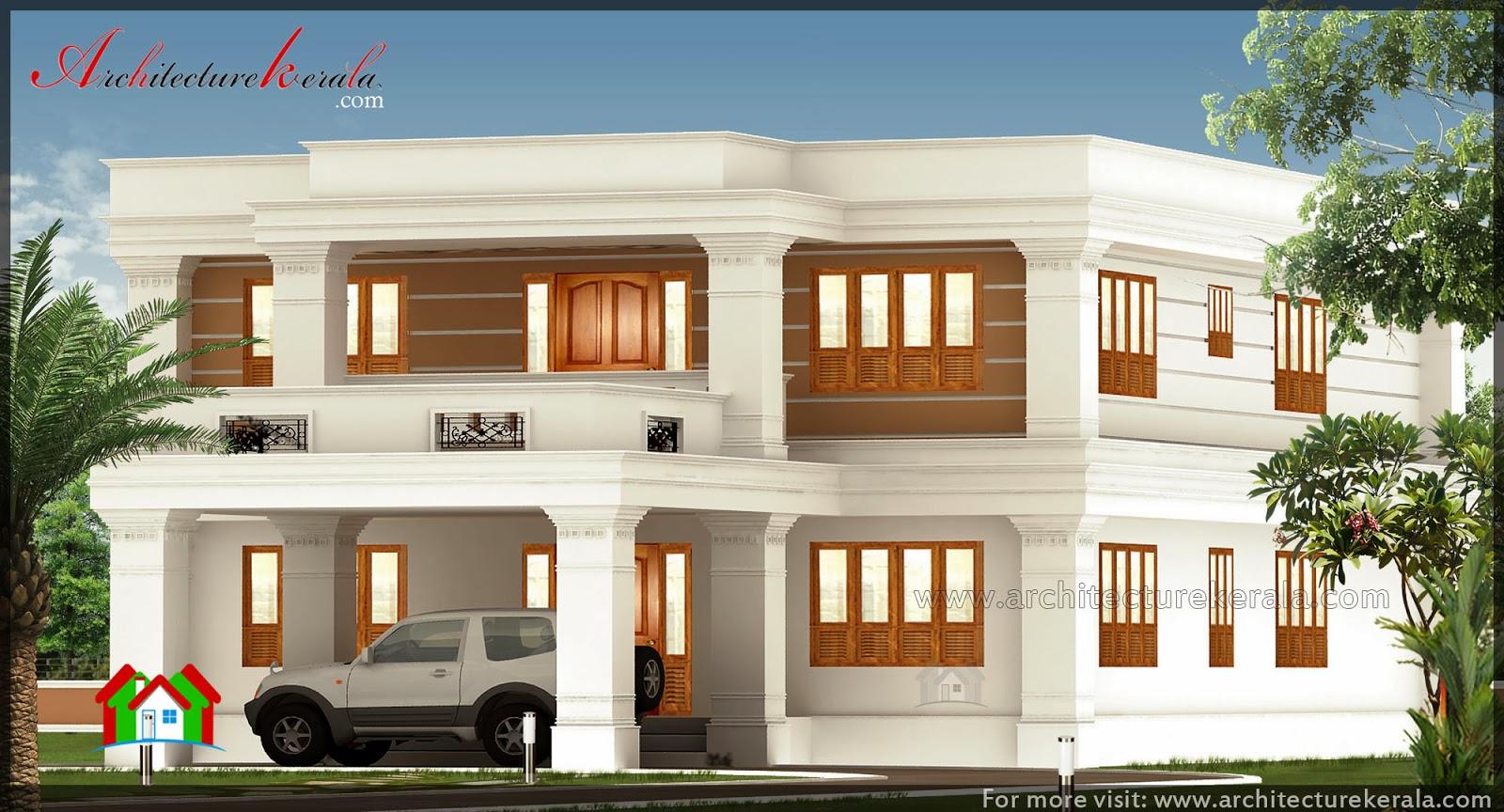 2800 square feet big house elevation architecture kerala for Home designs kerala architects